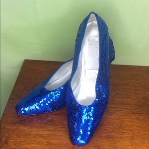 Dolce by Piece Royal Blue Sequin Heels